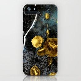 gold dark matter iPhone Case