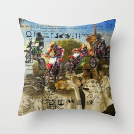 STILL LIFE AND MOTOCROSS IV II Throw Pillow
