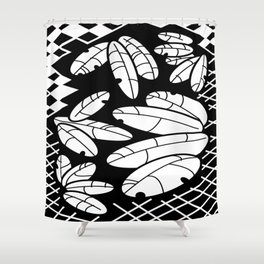 Leaves And Lattice Shower Curtain
