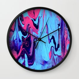 Paint Pouring 26 Wall Clock