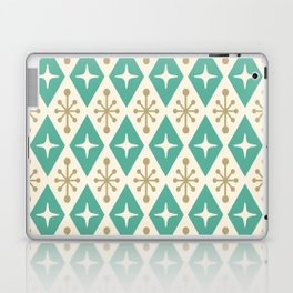 Mid Century Modern Atomic Triangle Pattern 105 Laptop & iPad Skin