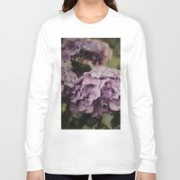 hydrangea Long Sleeve T-shirts featuring Purple Hydrangea by Pure Nature Photos