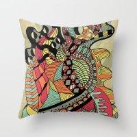 carousel Throw Pillows featuring Carousel by Tuky Waingan