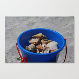 Blue Beach Bucket Canvas Print