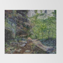 The Grotto Throw Blanket