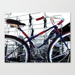Bike construction Canvas Print