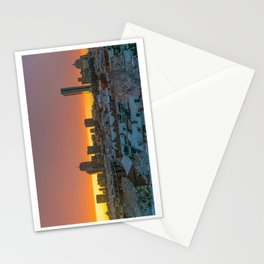 Moments Before Darkness in Boston's South End Stationery Cards