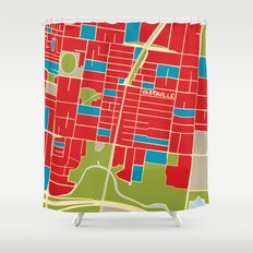 Vintage Style Map of Yarraville Shower Curtain