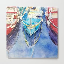 Boats of Italy Metal Print