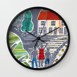 The Place with Trees Wall Clock