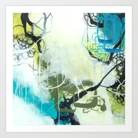 Everglades - Square Abstract Expressionism Art Print
