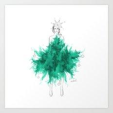 Christmas Tree Fashion Art Print