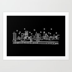 Brooklyn, New York City Skyline Art Print