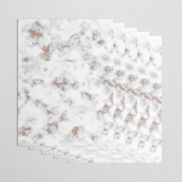 Rose gold gray and white marble Wrapping Paper