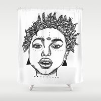 melissa smith Shower Curtains featuring Willow Smith by ☿ cactei ☿