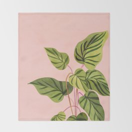 Upstart / Tropical Plant Throw Blanket