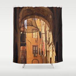 ARCHWAY and Sardinian fish traps Shower Curtain