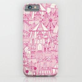 retro circus pink ivory iPhone Case