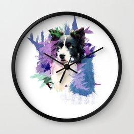 Border Collie T-Splash Art Dog Owner Gift Wall Clock