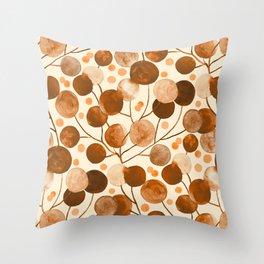 Pompom Plants Earth Tones Throw Pillow