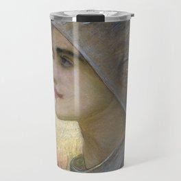 William Blake Richmond - St Joan Of Arc Travel Mug