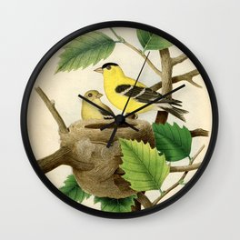 Vintage Bird Art Wall Clock