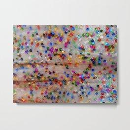 Glitter slime Metal Print