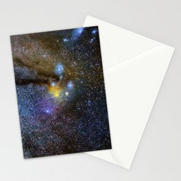 The Milky Way and constellations Scorpius, Sagittarius and the super big red star Antares. Stationery Cards