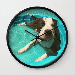 SERENA (shelter pup) Wall Clock
