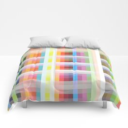 colorful grid Comforters