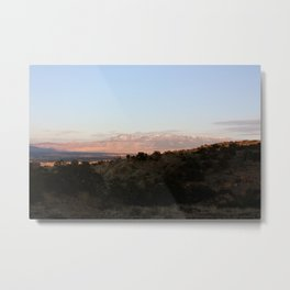 The Sun Sets Over Grand Junction Metal Print