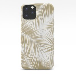 Palm Leaves - Gold Cali Vibes #6 #tropical #decor #art #society6 iPhone Case