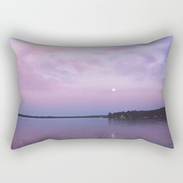 Full Moon Over The Crooked Lake Rectangular Pillow