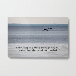 A Prayer For Serenity (waterscape) Metal Print