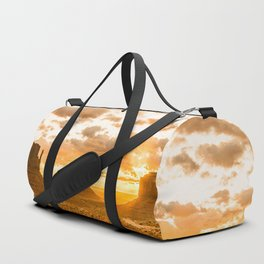 Southwest Wanderlust - Monument Valley Sunrise Nature Photography Duffle Bag