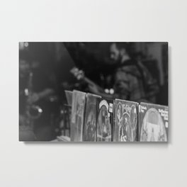 Jazz at the record shop Metal Print