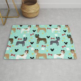 Pitbull theme park vacation dog breed gifts Rug