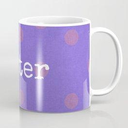 Purple Writer Polka Dots Coffee Mug