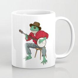 Banjo Playing Frog Coffee Mug