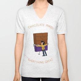Chocolate! Unisex V-Neck