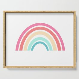 Rainbow art print perfect for kids room decor nursery art Serving Tray