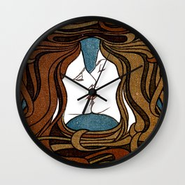 Two Faces Kissing by Peter Behrens  Wall Clock