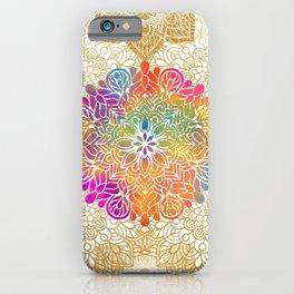 Beautiful Colorful Bohemian Mandala Pattern iPhone Case
