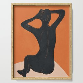 Abstract Nude I Serving Tray