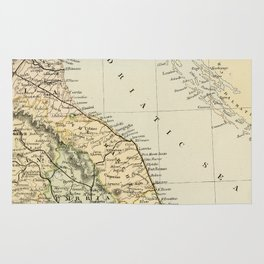 Retro & Vintage Map of Northern Italy Rug
