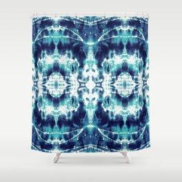 Celestial Nouveau Tie-Dye Shower Curtain