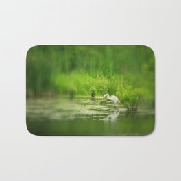 Marsh Egret 2 Bath Mat