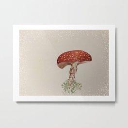 Mushrooms are fun guys!  Metal Print