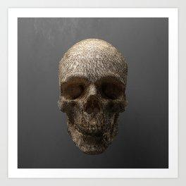 Golden Skull Triangles 1 Art Print