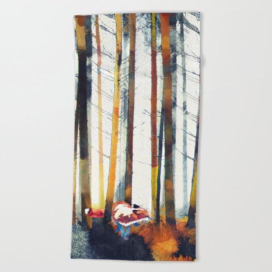 Autumn Hunt Beach Towel